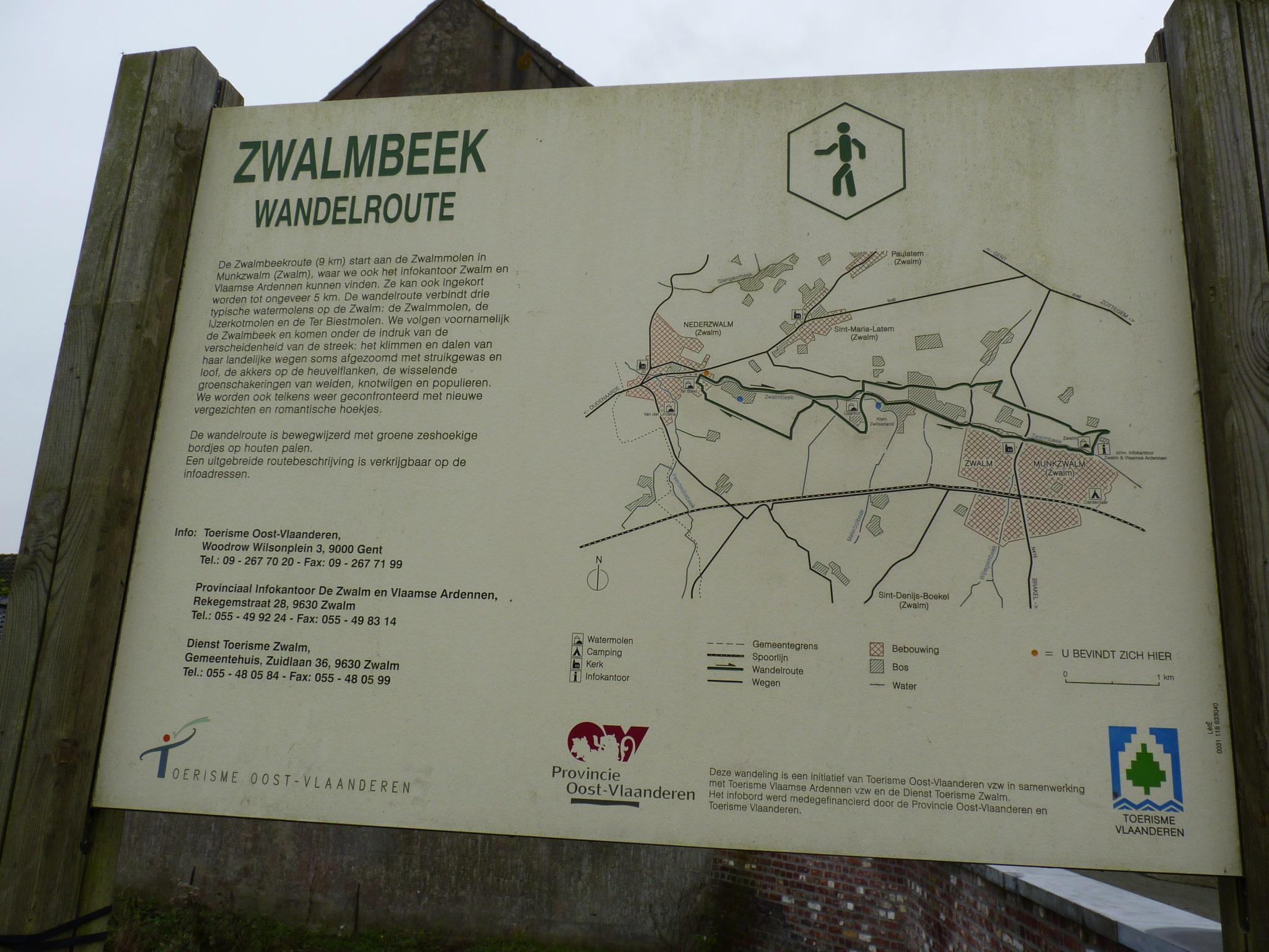 De Zwalmbeek wandelroute.