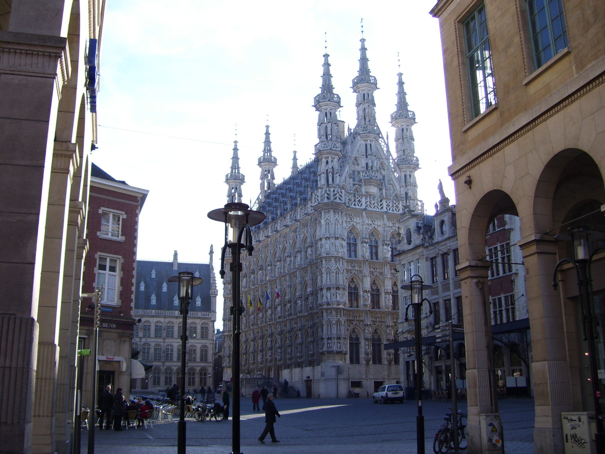 Per kickbike door Leuven.