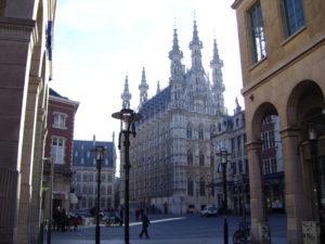 zicht op stadhuis en grote markt