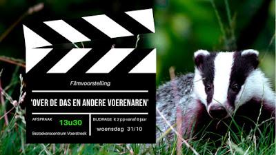 Filmvoorstelling 'Over de das en andere Voerenaren'.